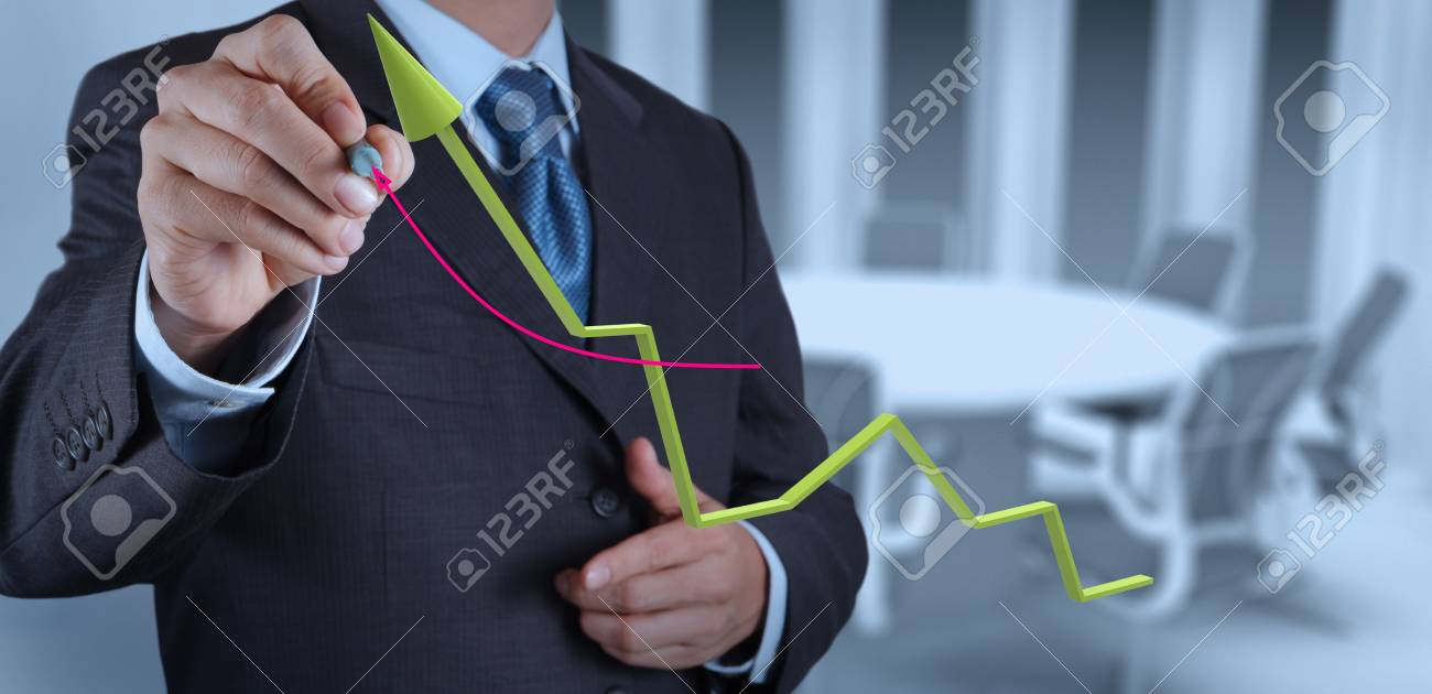businessman hand working with new modern computer and business strategy as concept Stock Photo - 19646899