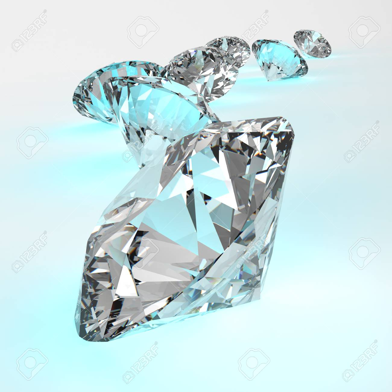 Diamonds isolated on white 3d model composition concept Stock Photo - 25265594