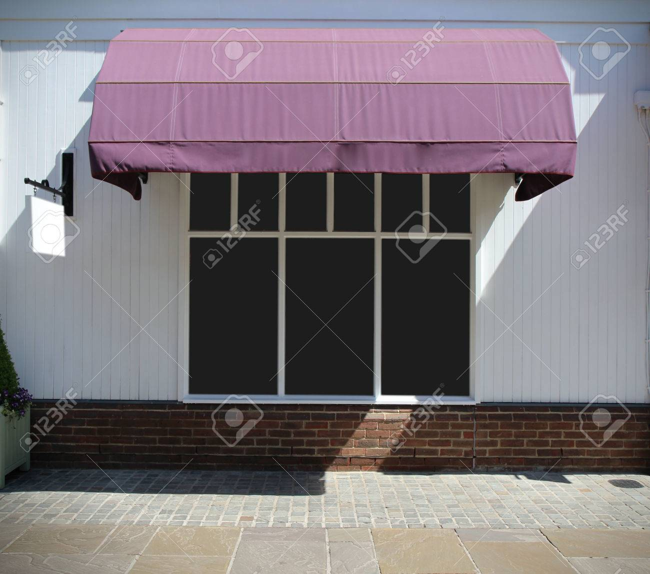 Shopfront Vintage Store Front With Canvas Awnings And Blank Display Stock Photo Picture And Royalty Free Image Image 41504510