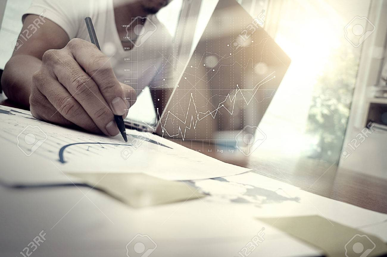 Business documents on office table with smart phone and digital banco de imagens business documents on office table with smart phone and digital tablet and graph business with social network diagram and man working in ccuart Image collections