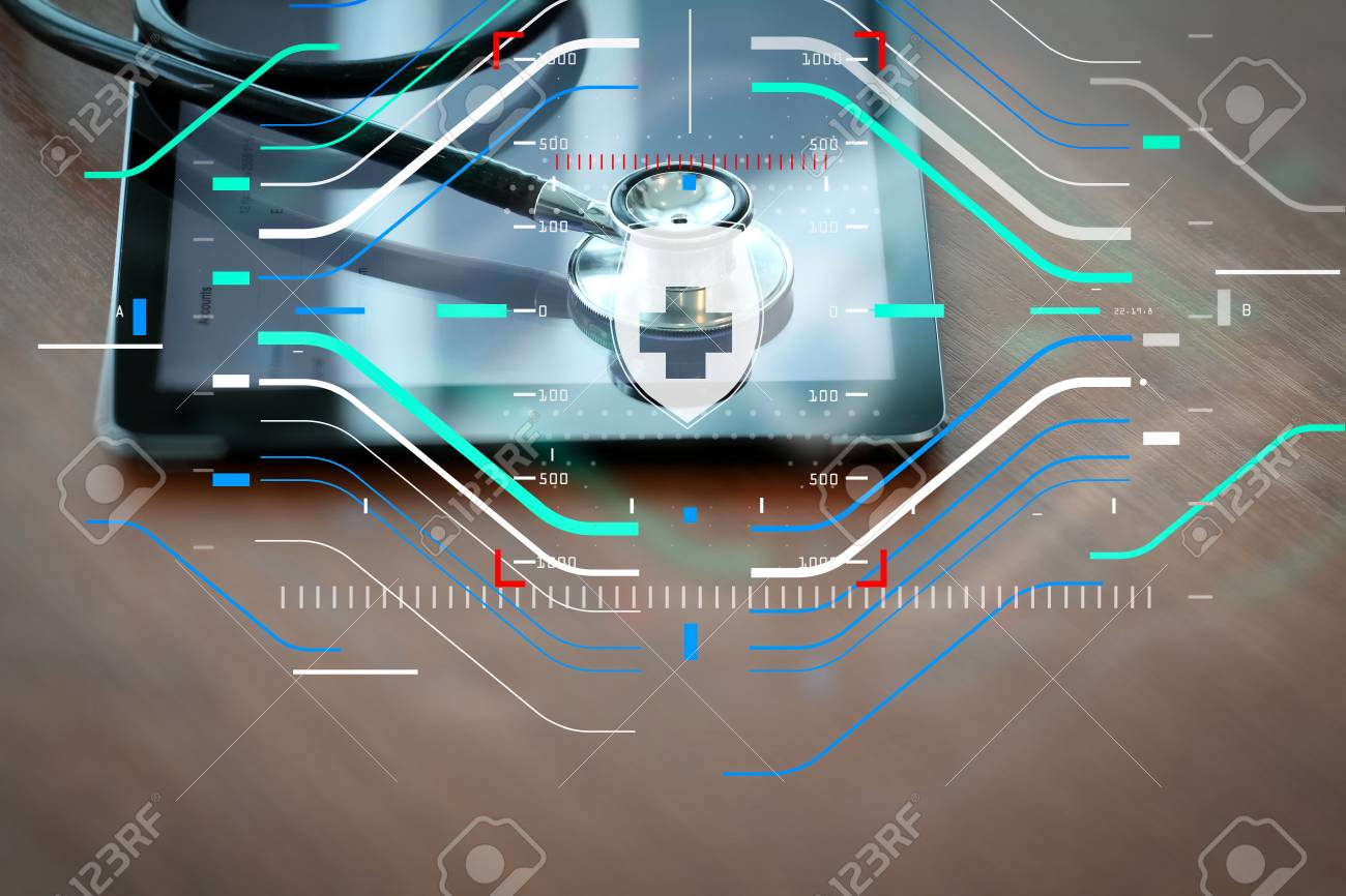 Health Protection Medical And Care Conceptstudio Macro Stethoscope Diagram Circuit Of A Digital