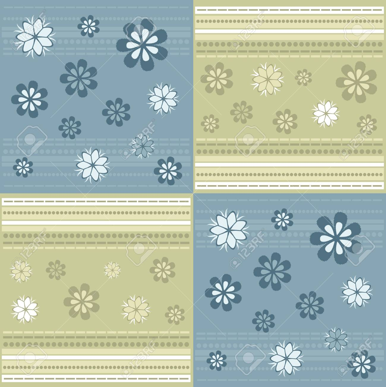 Elegant Background with Floral Ornament Stock Vector - 4888453