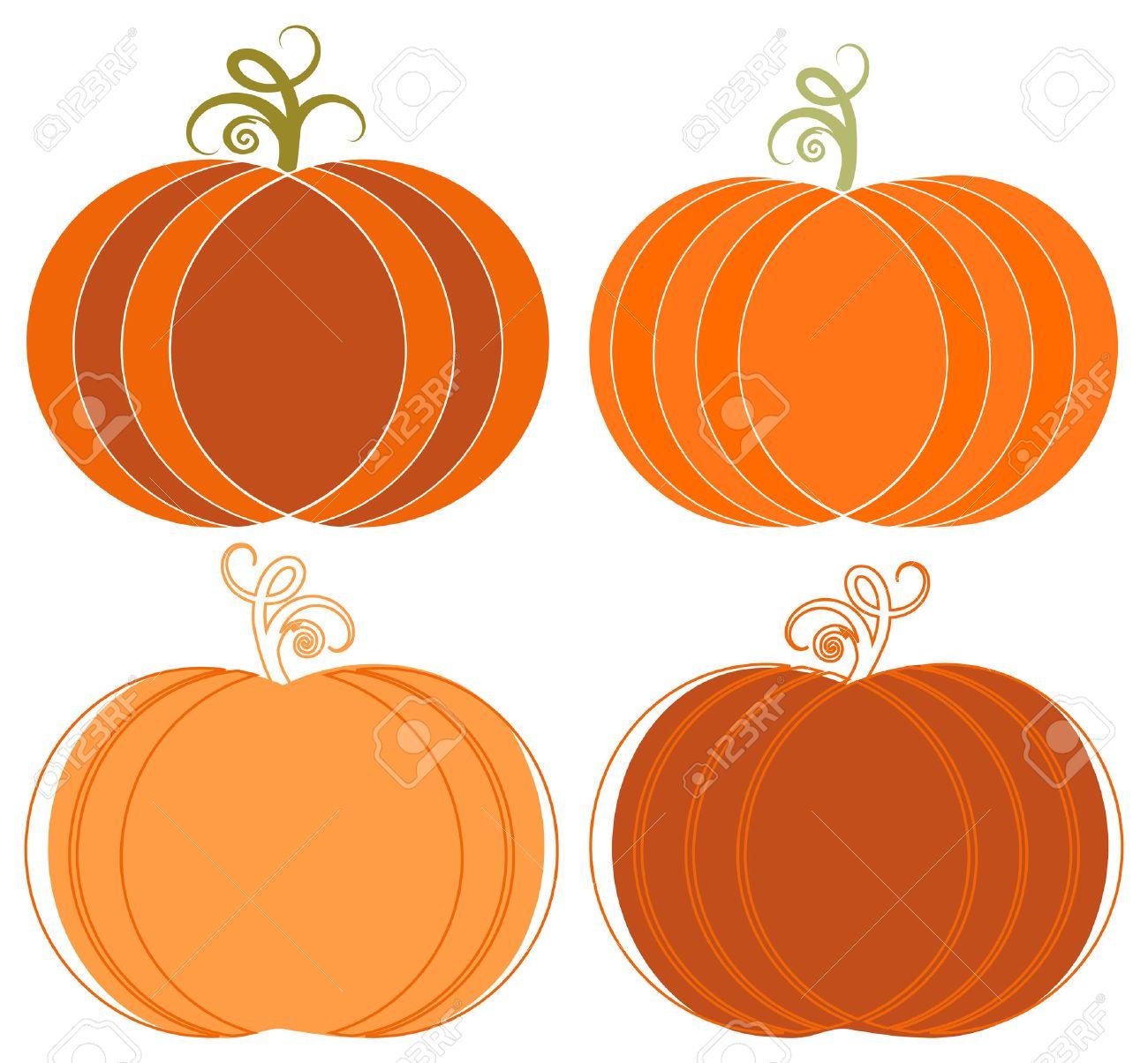 whimsical halloween pumpkins clip art set royalty free cliparts
