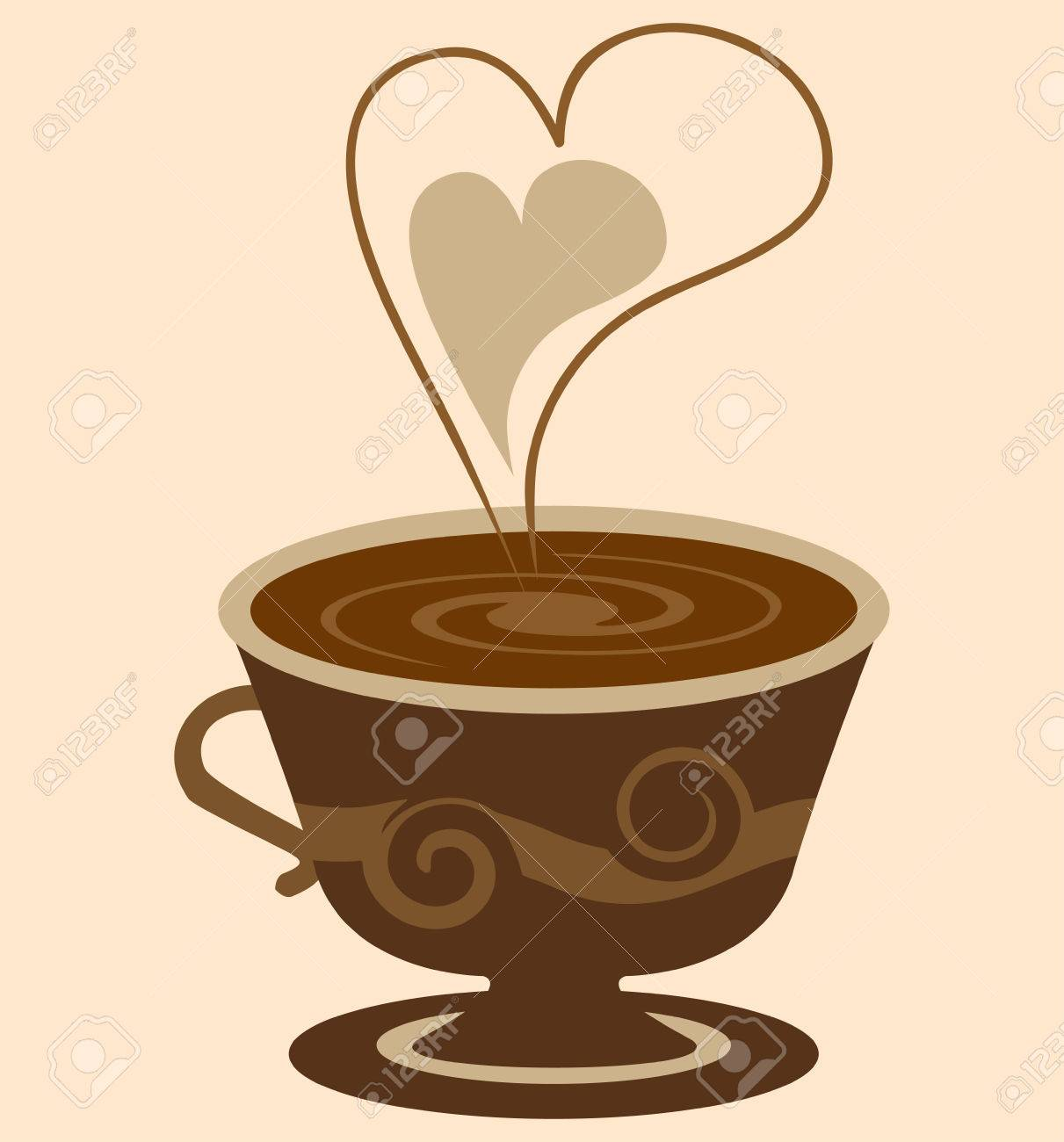 Coffee cup vector free - Hot Coffee Cup Vector Illustration Stock Vector 5839567