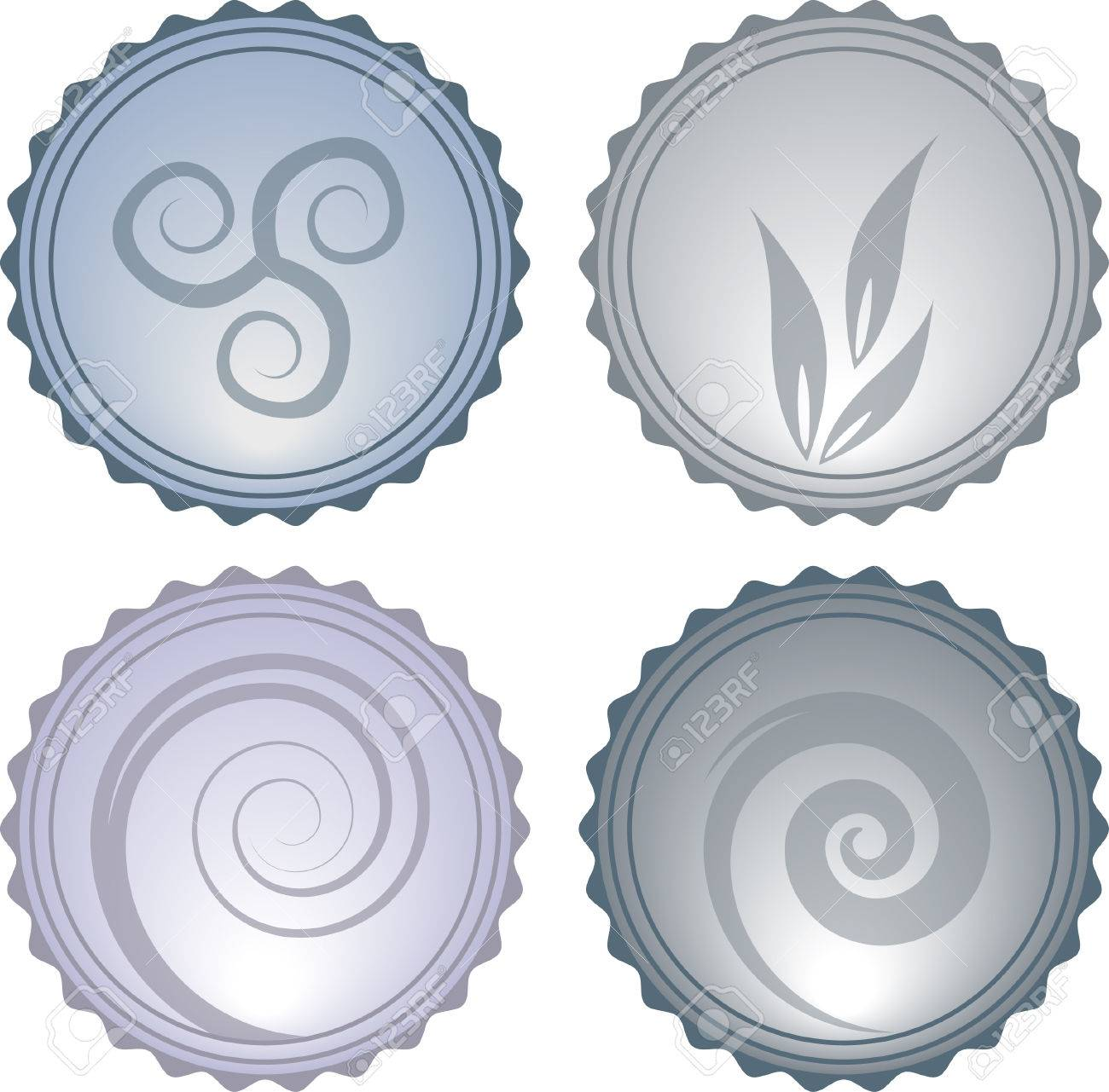 Vector Beautiful Nature Elements Glassy Icons eps10 Stock Vector - 8846023