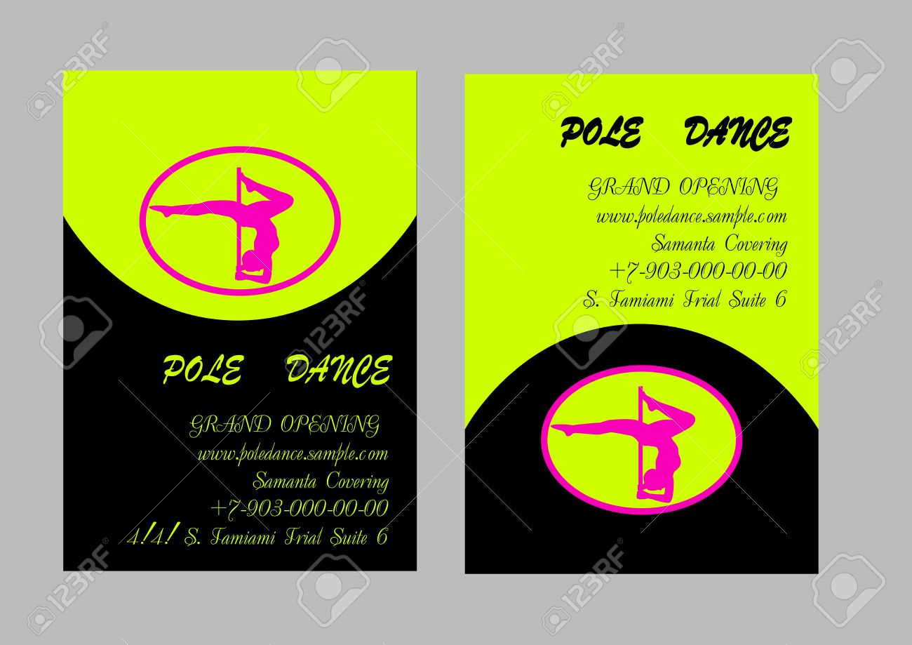 Pole Dance School Corporate Templates. Document, Flyer, Business ...
