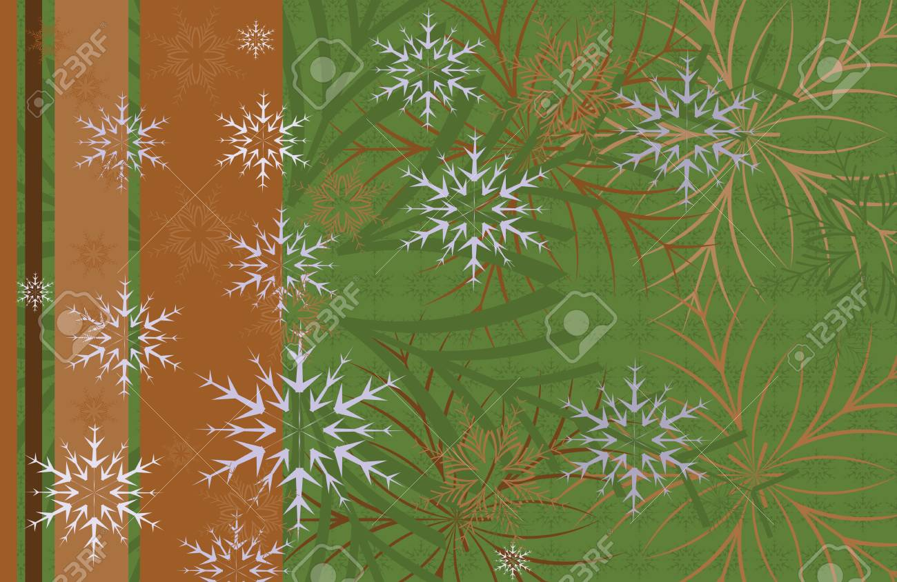Festive Christmas background card with snowflakes on a dark Stock Vector - 11659616