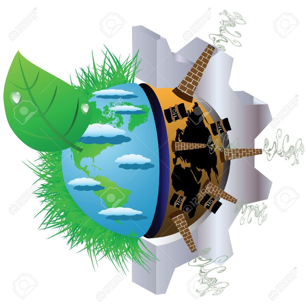 Illustration Sur La Pollution De L Environnement De La Planète Terre
