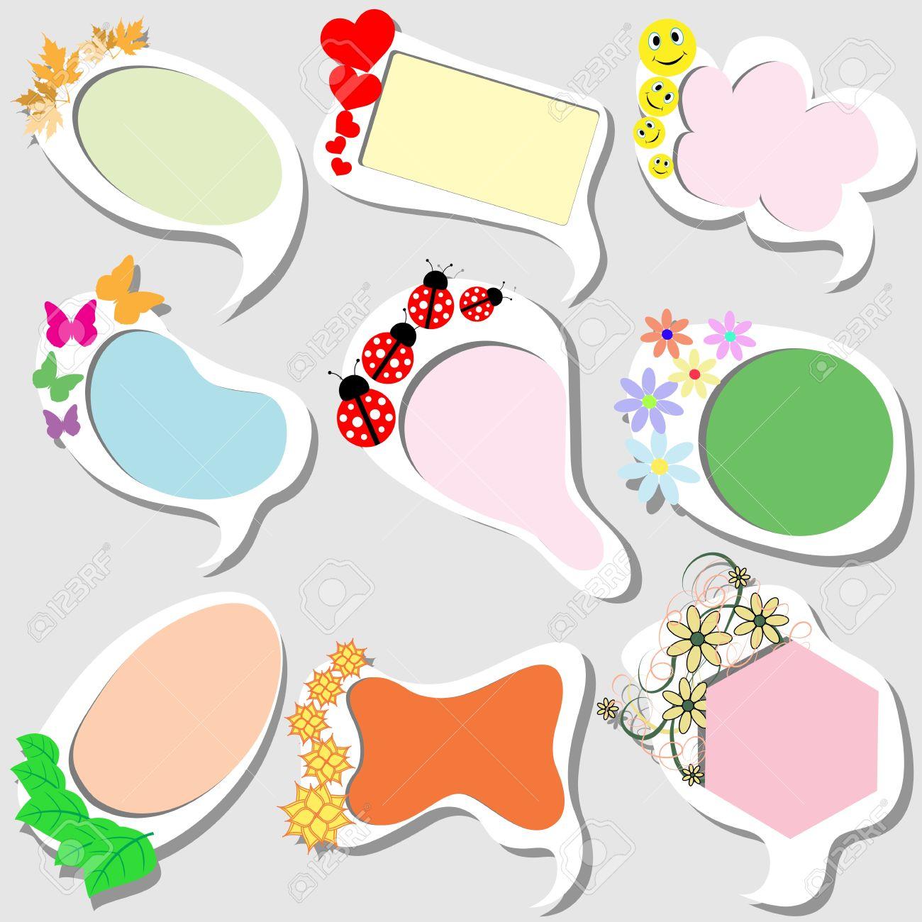 Divertidos Marcos De Colores De Estilo Para Niños Ilustraciones ...