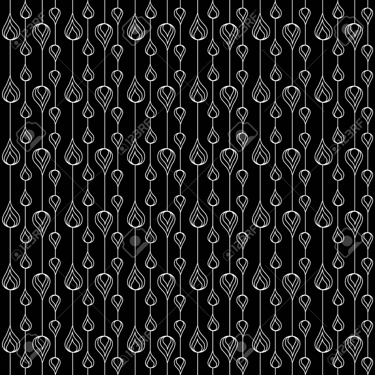 Seamless monochrome pattern for your design Stock Vector - 18620419