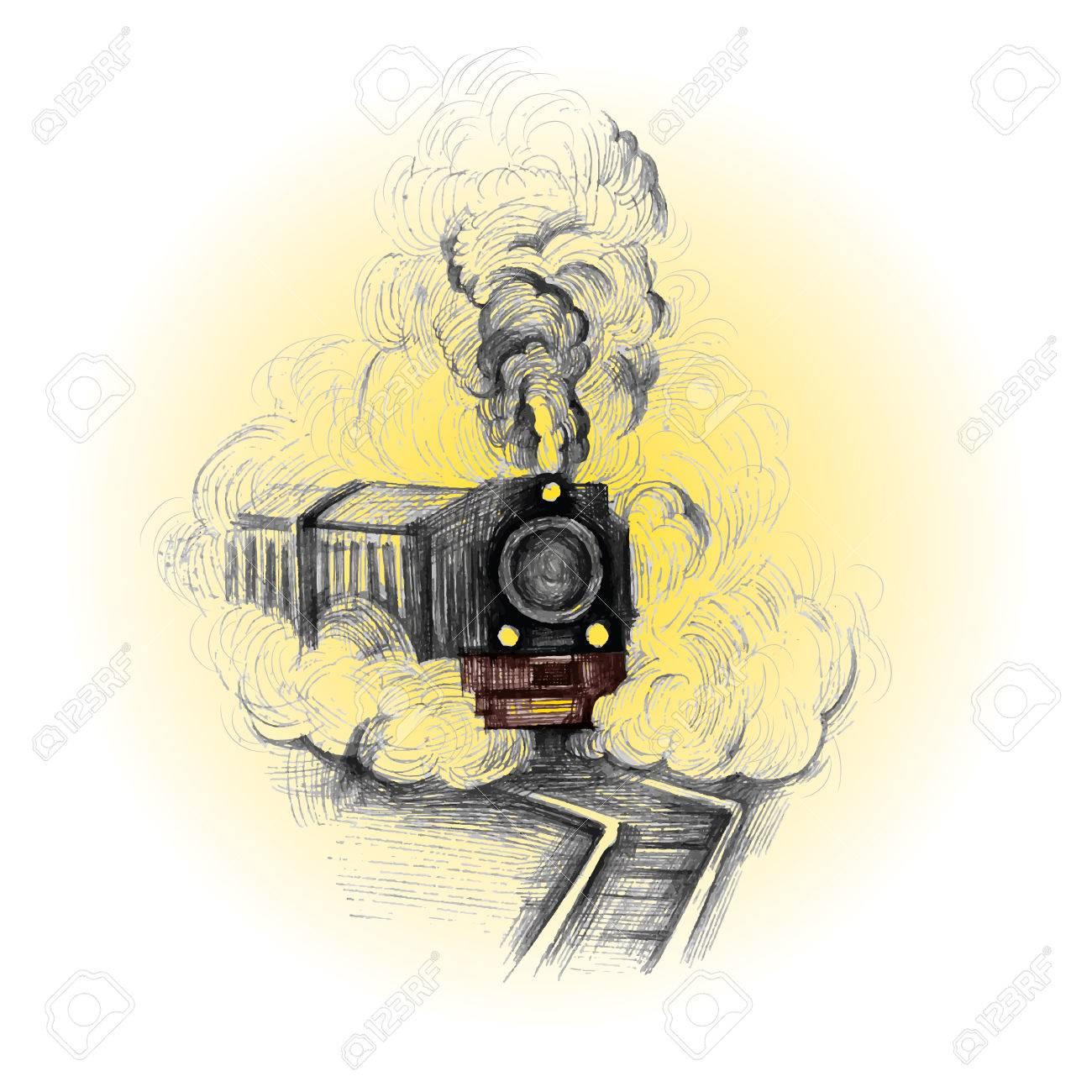 Tren Retro, Símbolo De Vector Vintage, Emblema, Plantilla De ...
