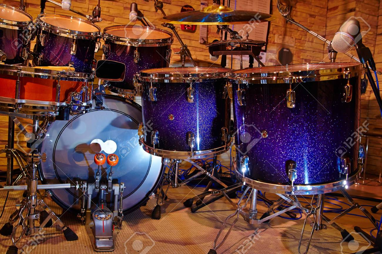 part of the drum set, music studio