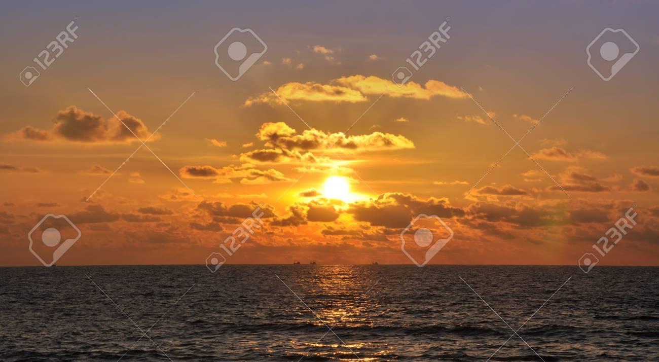 Beautiful sunset in Kata. Phuket, Thailand Stock Photo - 11409878