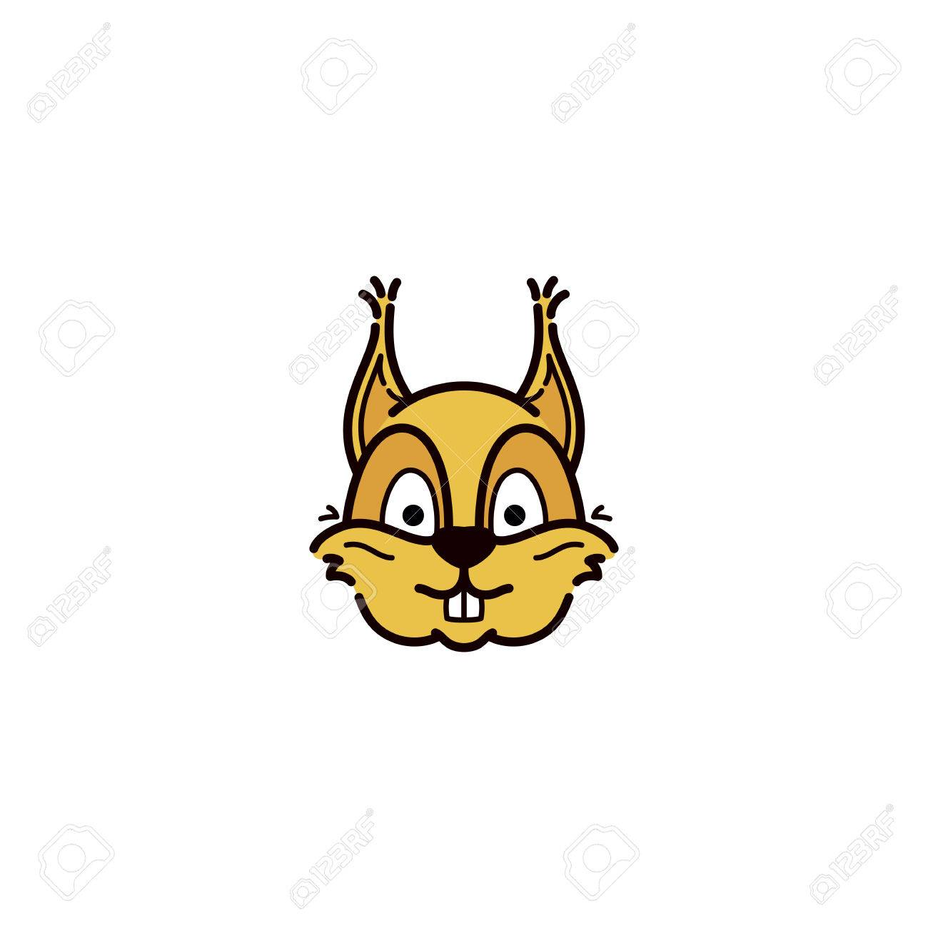 Face Squirrel . Template Company. Vector Sign For Your Design ...