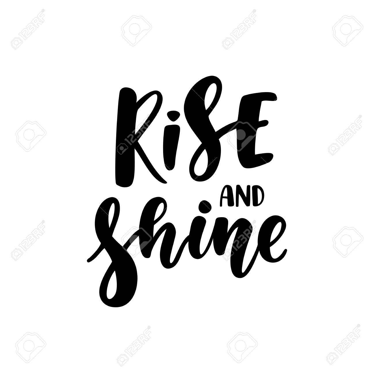 Rise And Shine Inspirational And Motivational Quotes Hand Painted