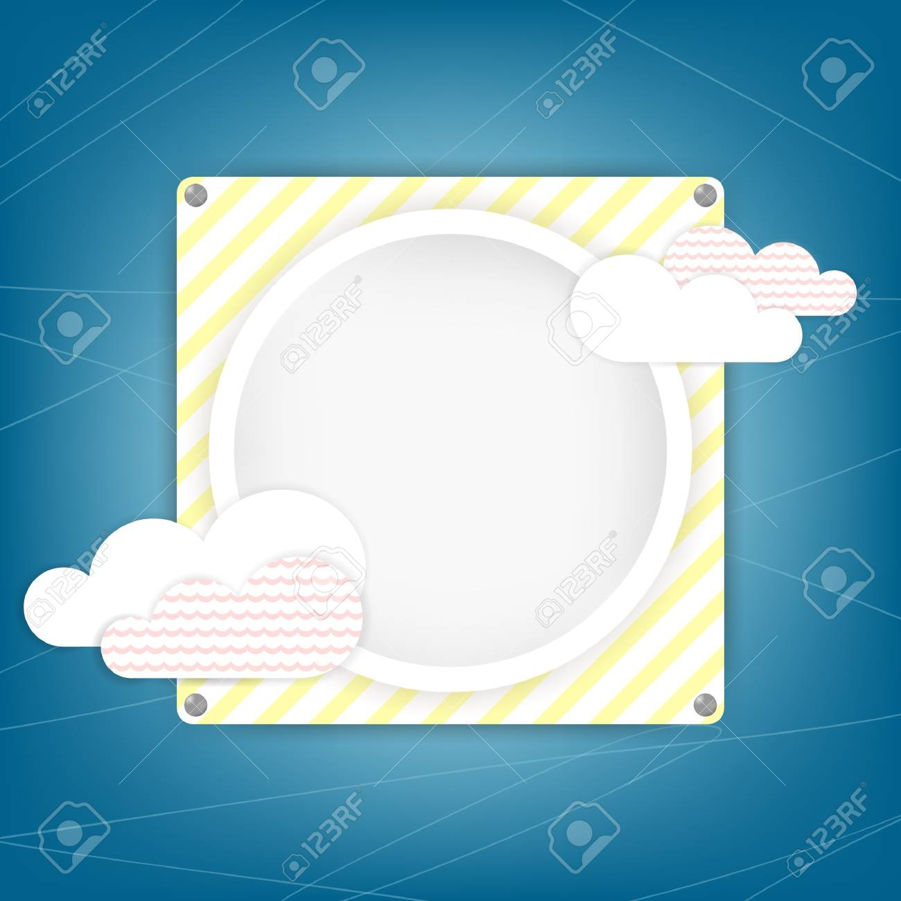 Square  blue vintage background and graphic elements with place for text or image Stock Vector - 18093230