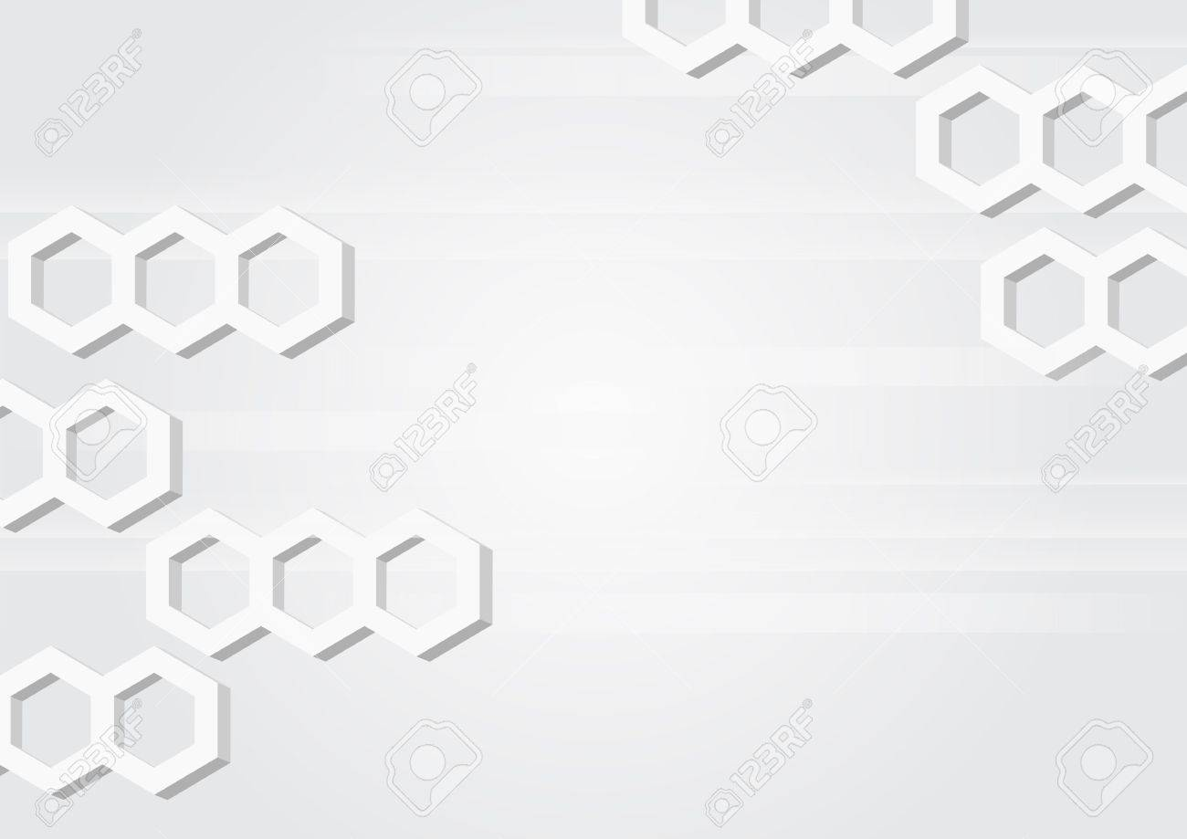 Abstract horizontal grey background with hexagons. Stock Vector - 18131700