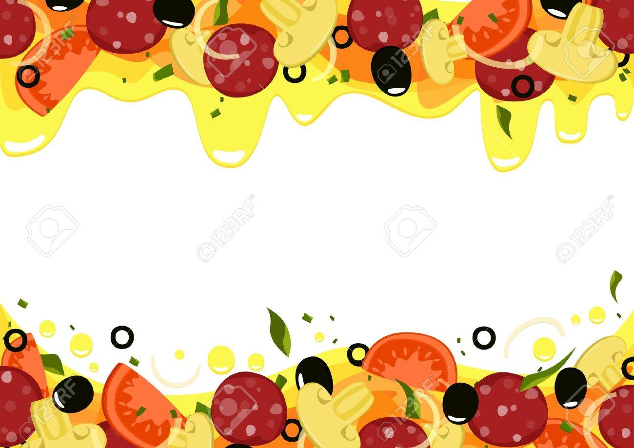 Background Pizza isolated with place for text. Stock Vector - 18305859