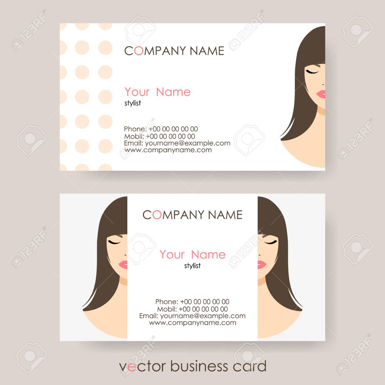 Set of light cosmetic business cards on gray background royalty set of light cosmetic business cards on gray background stock vector 80041920 colourmoves