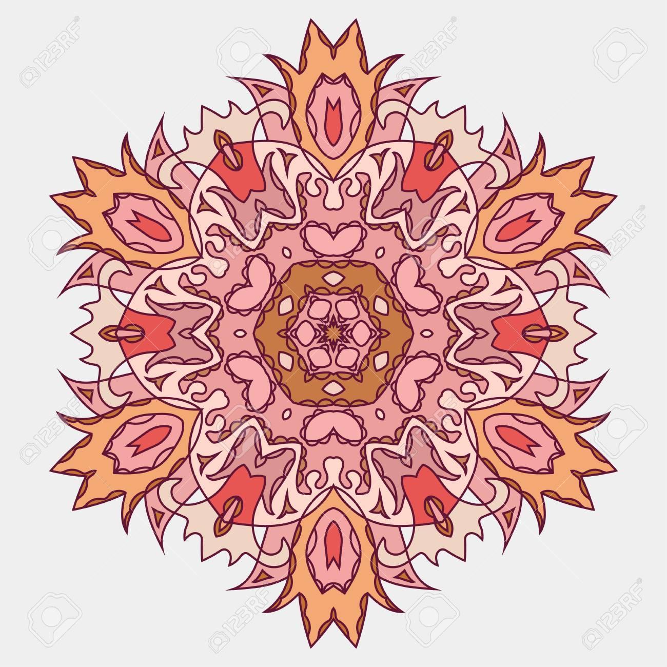 Mandala Element Decoratif Ethnique Toile De Fond Dessine A La Main