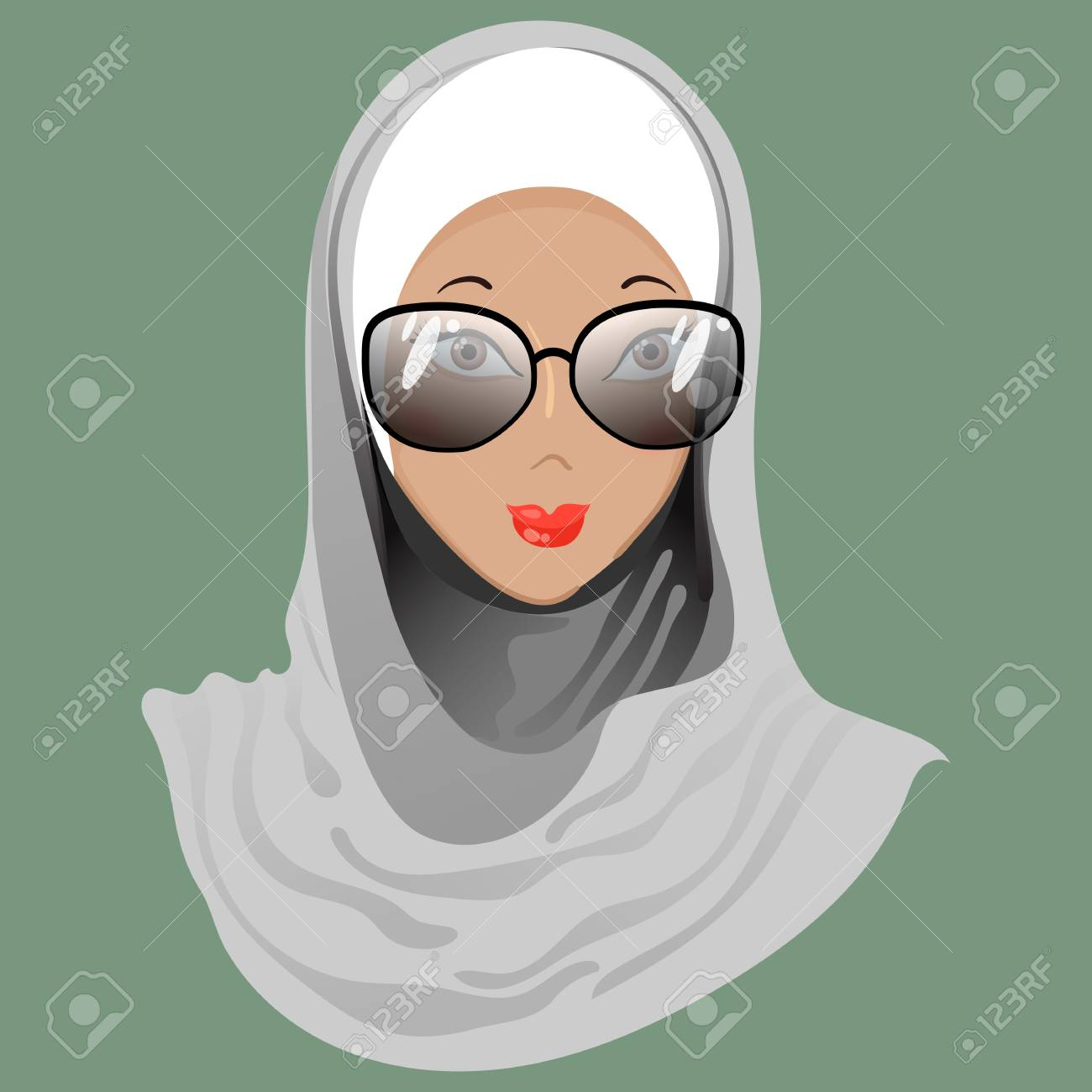 Emoticon calm muslim girl with glasses for used for web emoticon calm muslim girl with glasses for used for web wallpaper printing altavistaventures Image collections