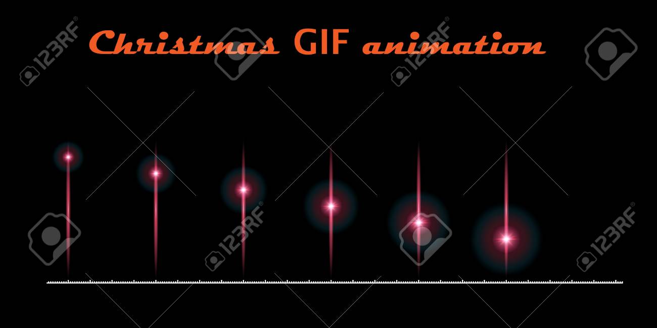 A Set Of Create Christmas Animations Moving Flash On Black Background For Used