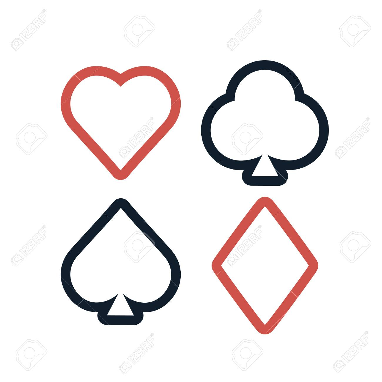 Colorful playing cards symbols set on white background royalty colorful playing cards symbols set on white background stock vector 73587462 biocorpaavc