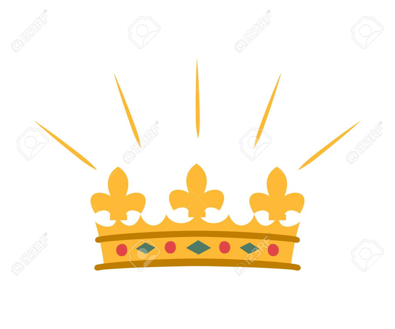 Cartoon Crown Icon On White Background Vector Illustration Royalty Free Cliparts Vectors And Stock Illustration Image 95455081 Crown icon cartoon black and white vector. cartoon crown icon on white background vector illustration