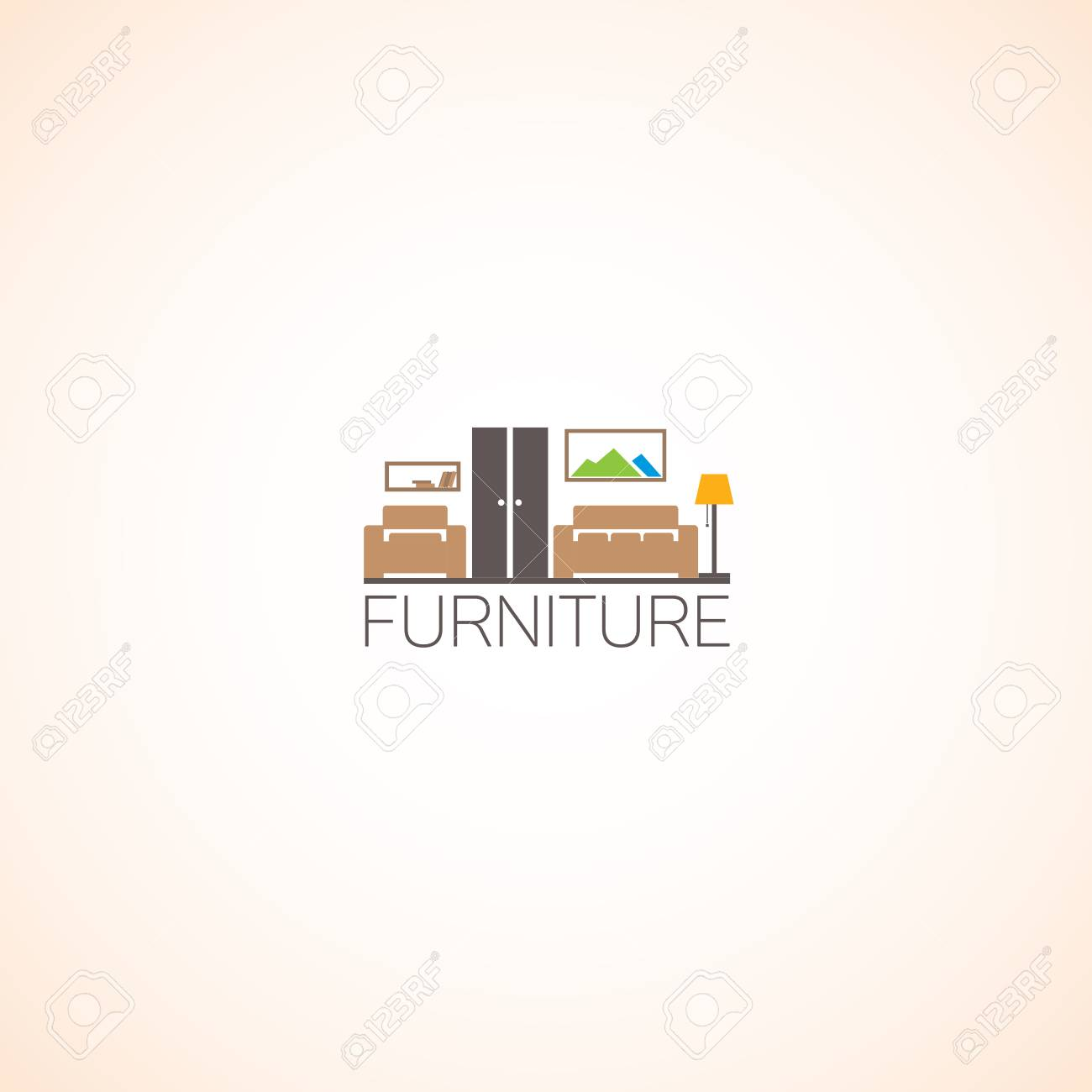 Modern Furniture Logo Royalty Free Cliparts Vectors And Stock