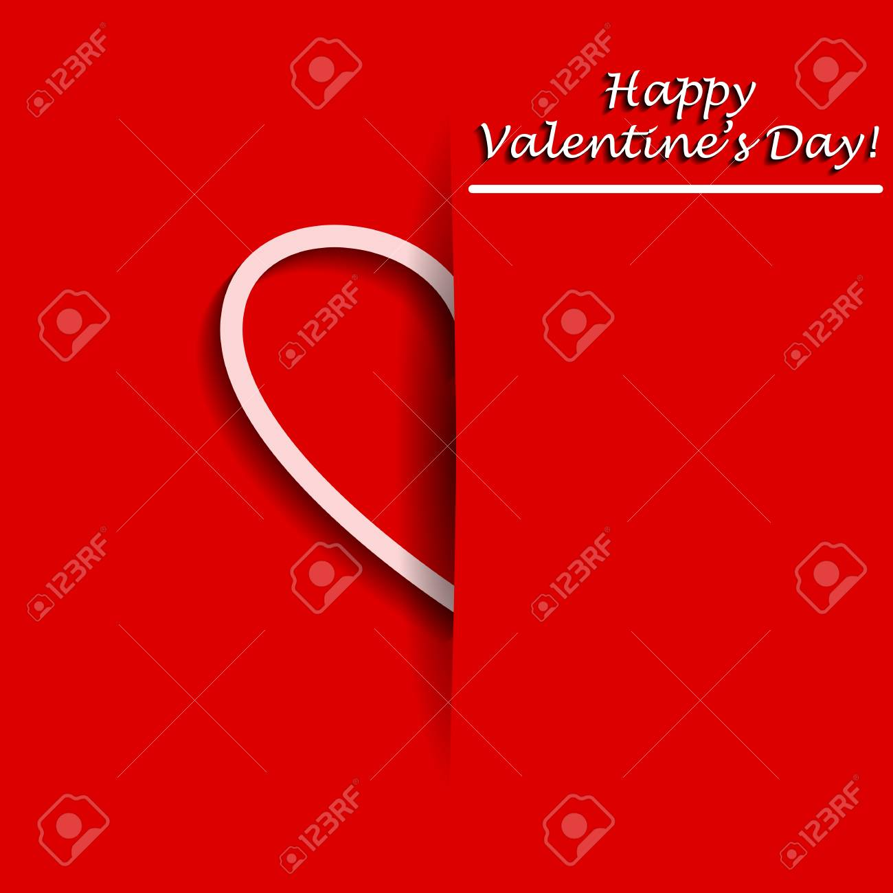 Valentines day greeting card with half of heart in cover vector valentines day greeting card with half of heart in cover vector illustration stylish design kristyandbryce Image collections