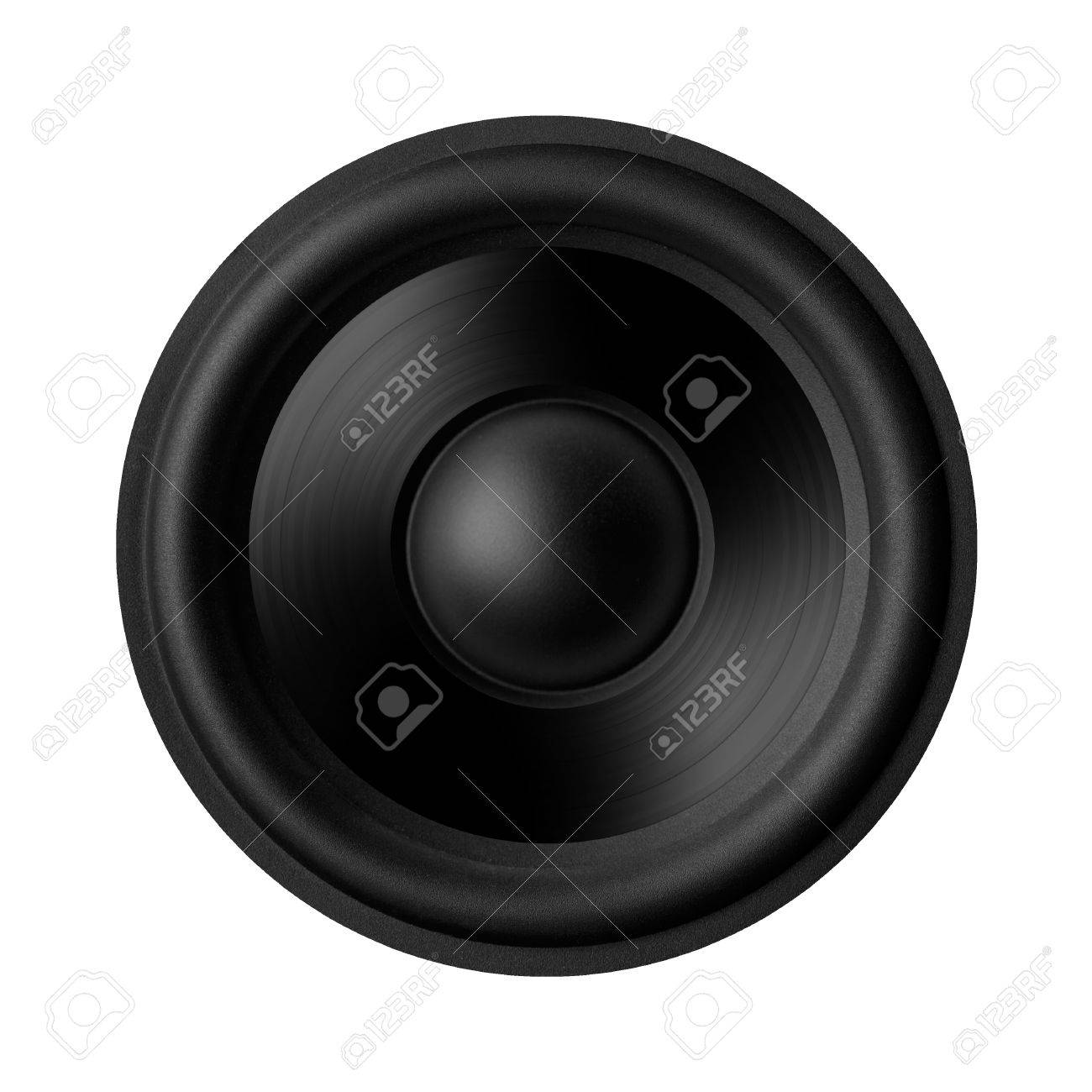 Black speaker with a metal membrane Stock Photo - 22497356
