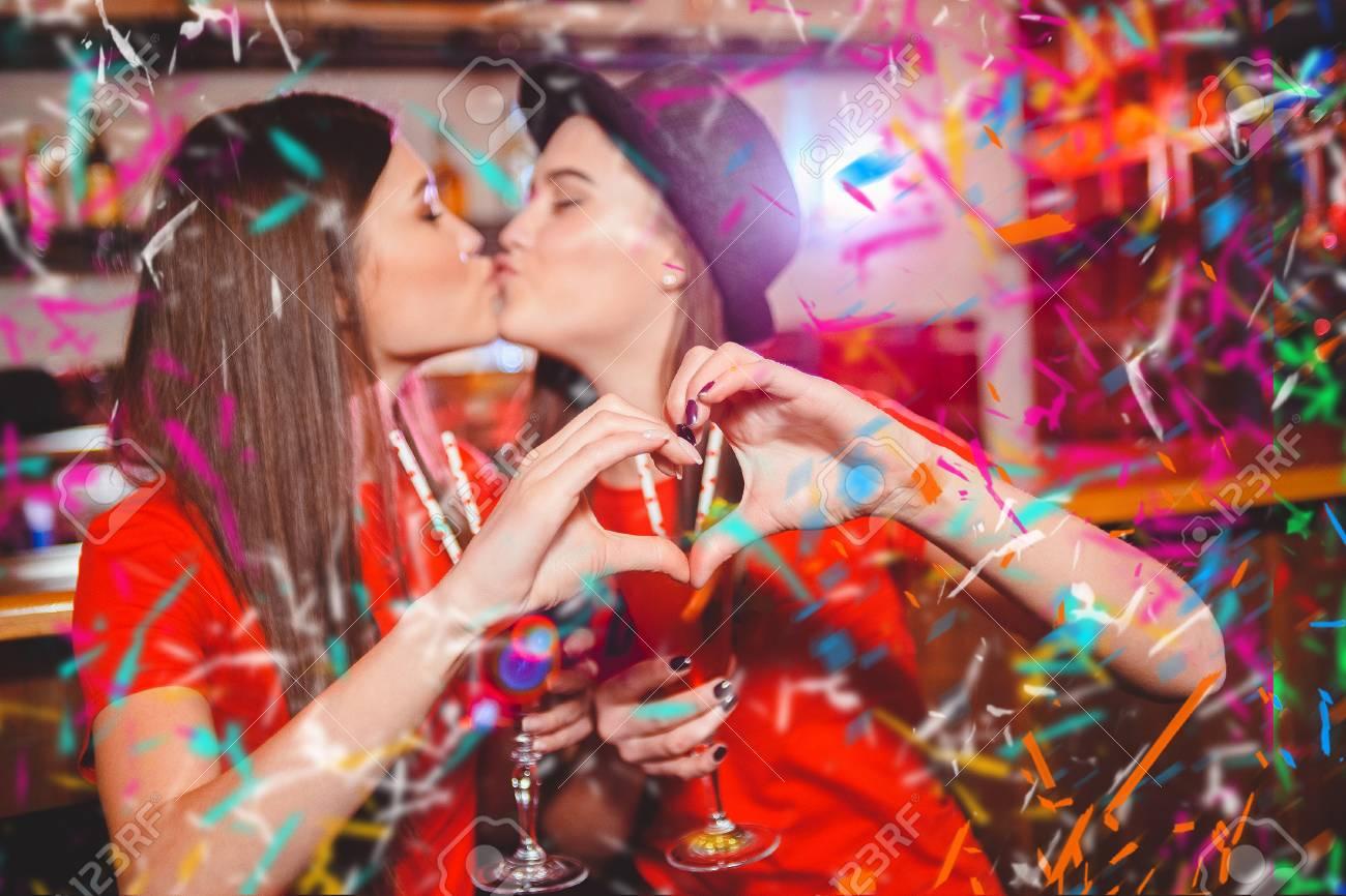 Two Teen Lesbian Kissing