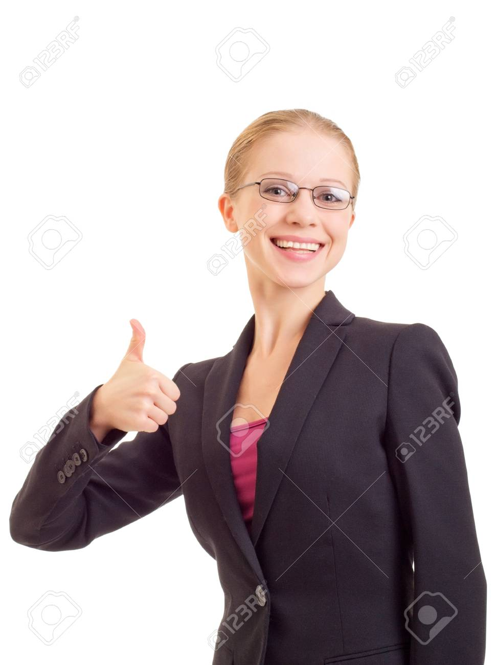 young business woman With Thumb Up Stock Photo - 11027969