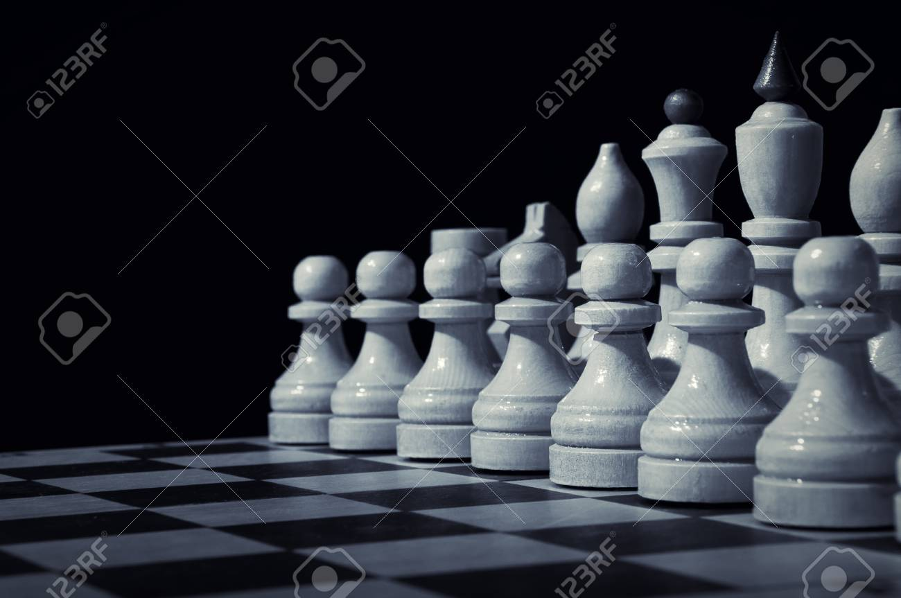 Chess on a chess board Stock Photo - 13147579