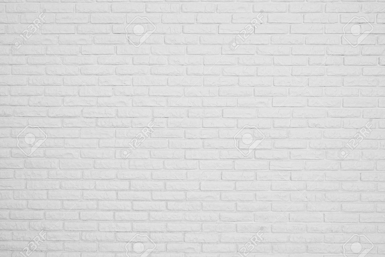 Plain wood table with hipster brick wall background stock photo - White Wall The Brick White Blank Wall Stock Photo