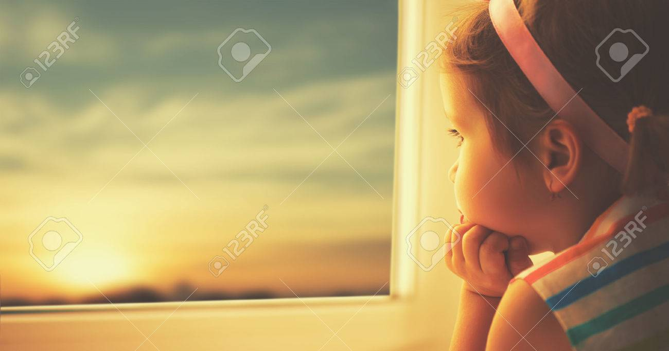 girl looking out
