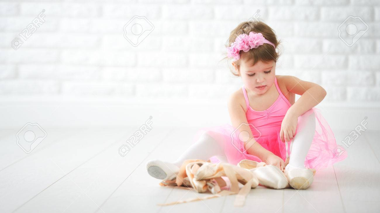 Little Child Girl Dreams Of Becoming