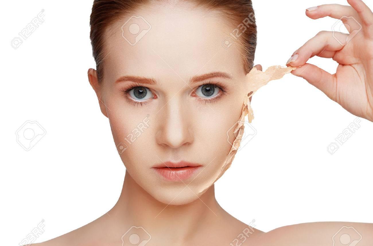problemas concepto de belleza de rejuvenecimiento, renovación, cuidado de la piel y de la piel Foto de archivo - 56753225