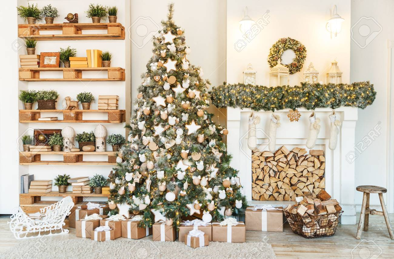 Christmas Decor Christmas Tree Decorations And Holiday Homes Stock Photo Picture And Royalty Free Image Image 65958021