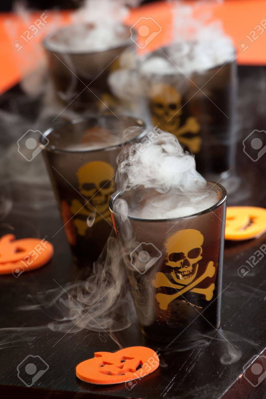 Closeup of Deadly Shot, vodka and hot pepper - Halloween drinks series Stock Photo - 10627277