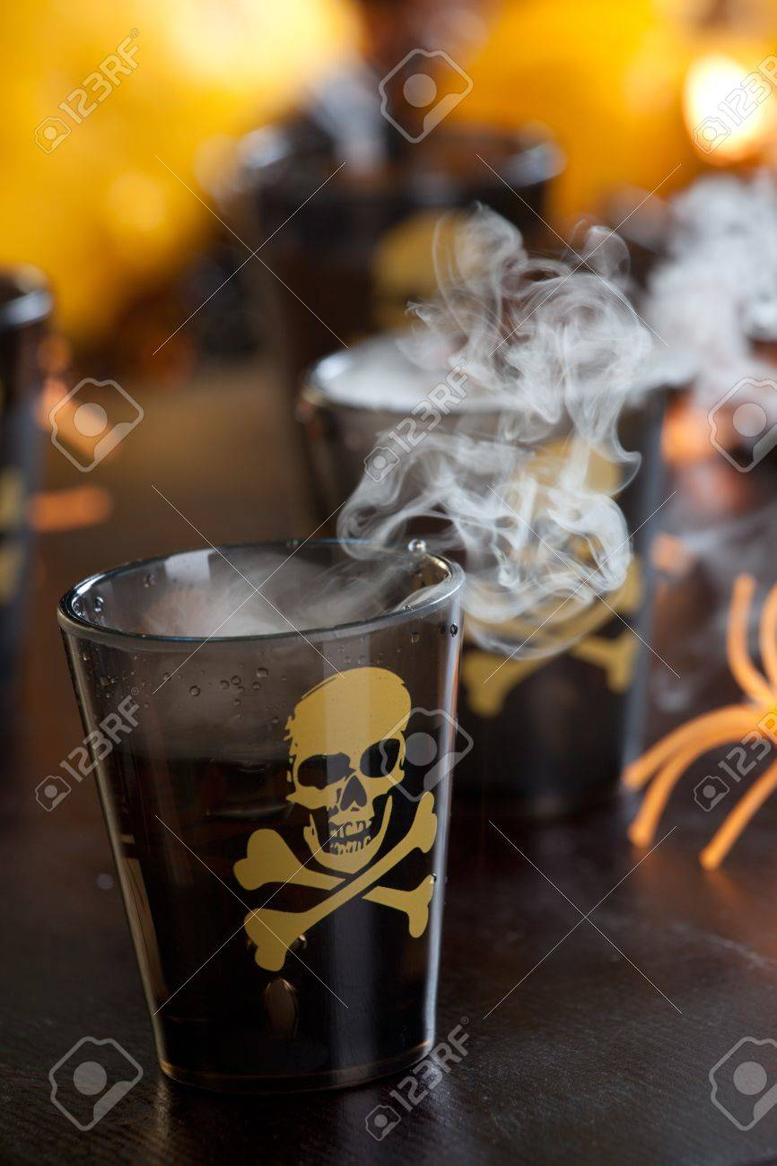 Closeup of Deadly Shot, vodka and hot pepper - Halloween drinks series Stock Photo - 10627275