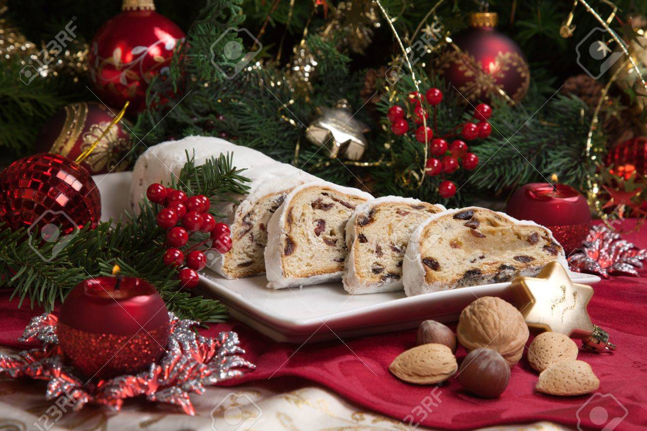 Traditional German Christmas Cake Cranberry Stollen Christmas