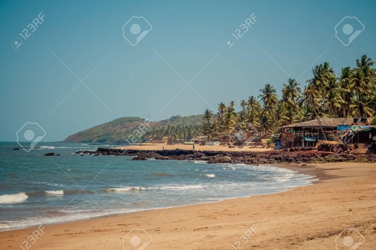 Bungalows on palolem beach india goa travel sea nature sun vacation stock photo 38292691