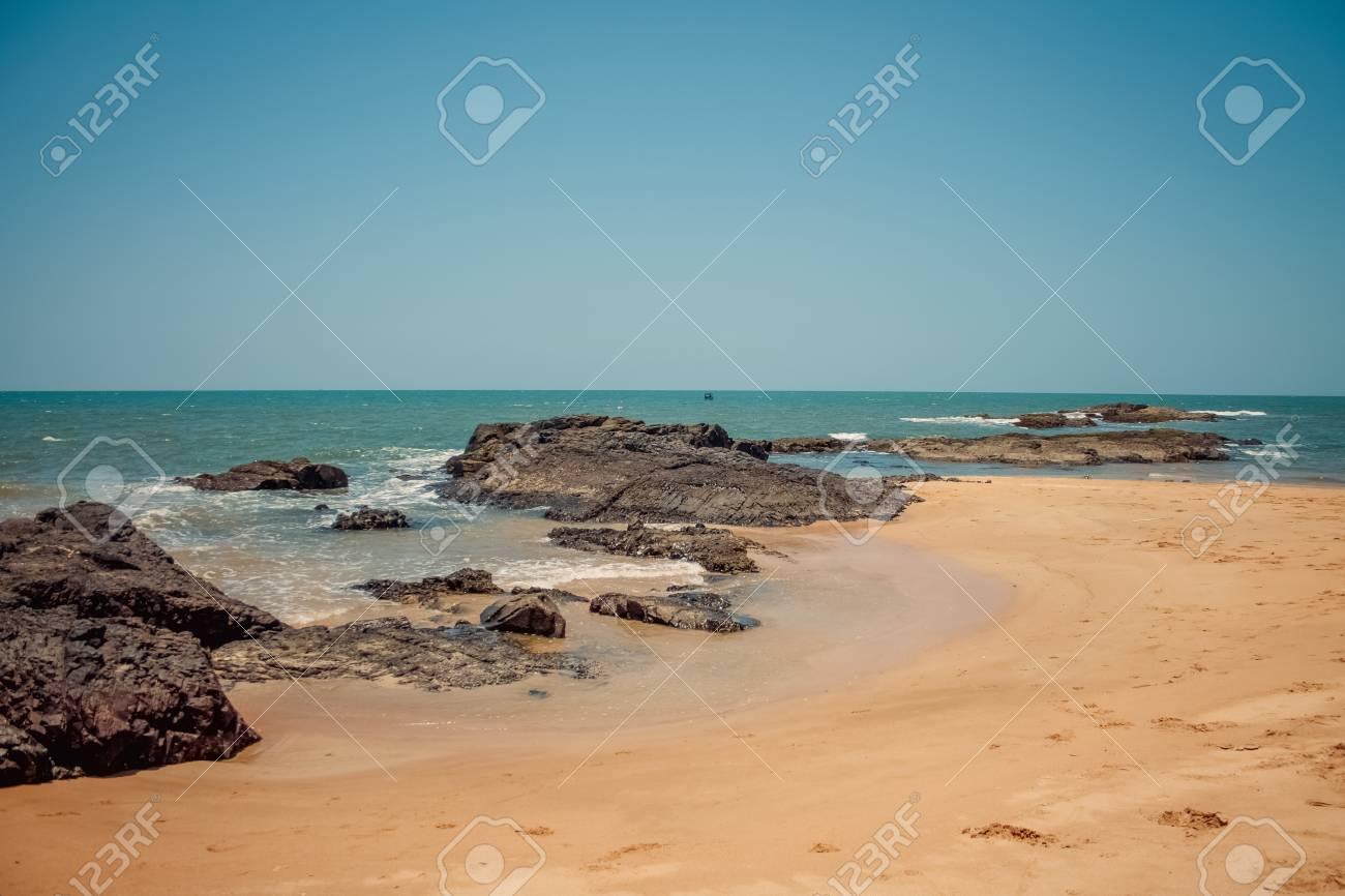 Bungalows on palolem beach india goa travel sea nature sun vacation stock photo 38292693