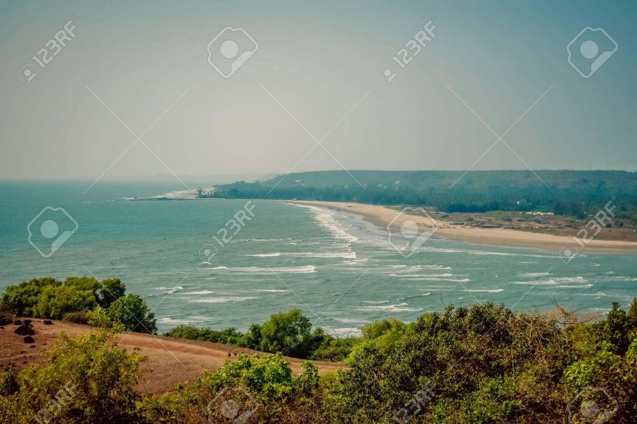 Bungalows on palolem beach india goa travel sea nature sun vacation stock photo 38293363