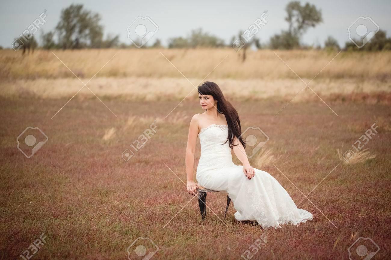 Two Lovers Wedding Couple Husband Wife Love Nature Honeymoon Stock