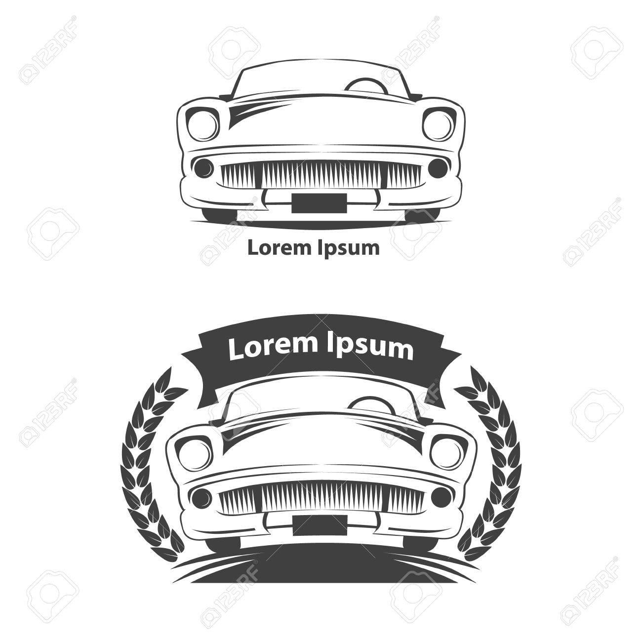Auto-Symbol, Autos Und Einfache Rahmen, Einfache Illustration ...
