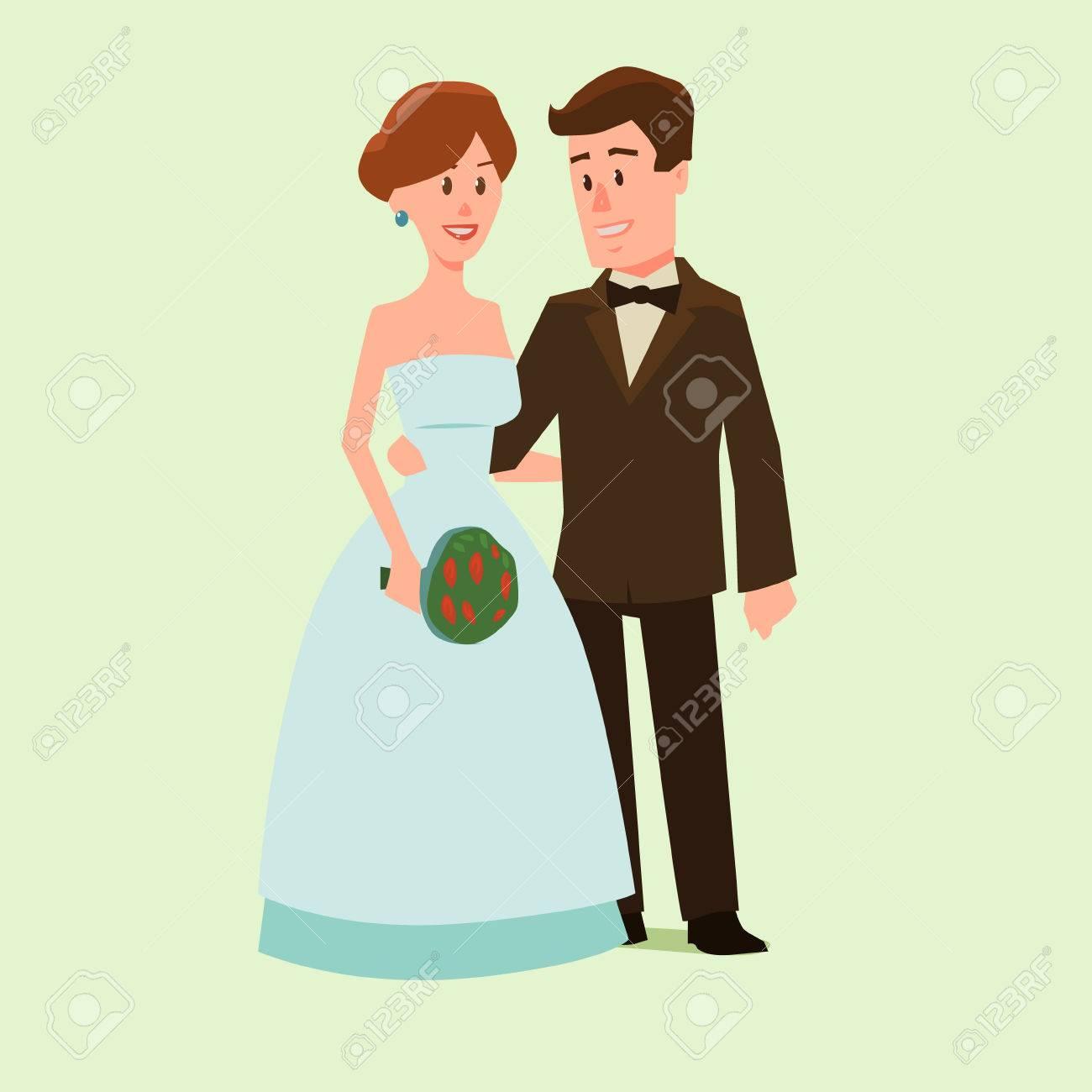 Lovely Lustige Hochzeitsbilder Ideas Of Lustigen Cartoon Hochzeitspaar, Vektor-tration Für Design Hochzeit