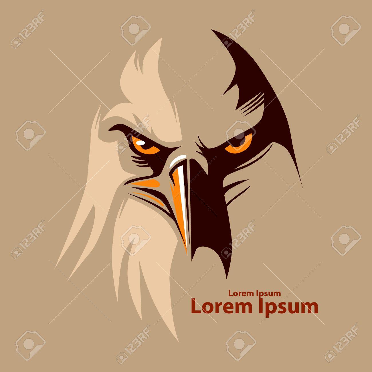 eagle head for logo, american symbol, simple illustration - 52813152
