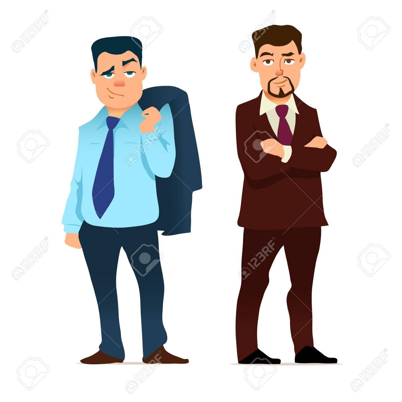 business people cartoon illustration businessman in various